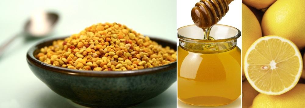le pollen miel citron